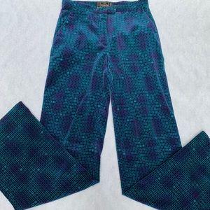 Fendi purple/teal wide leg pants, size 24